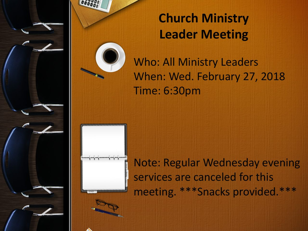 Ministry Leader Meeting